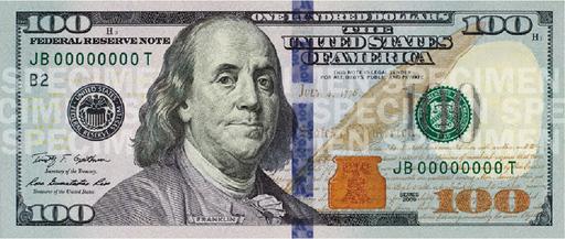 Видео: Новые 100 долларов стали светло-голубыми