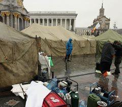 Палаточный городок на Майдане Независимости