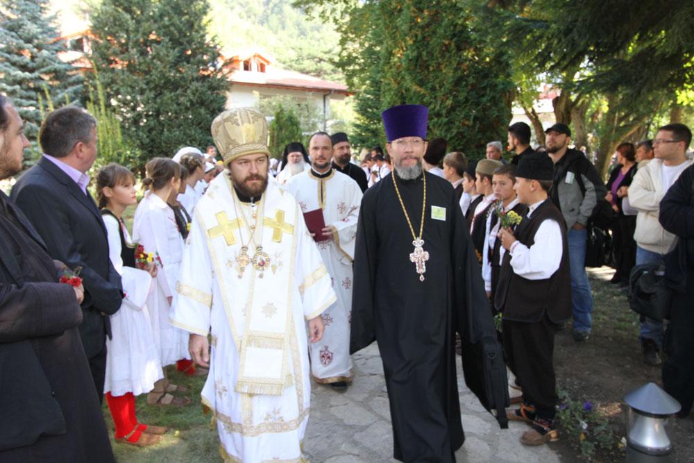 Делегация Русской Православной Церкви: Митрополит Иларион (Алфеев) и протоиерей Николай Балашов